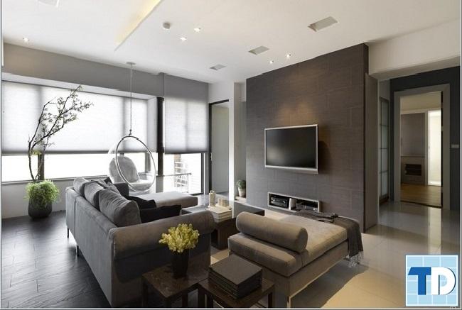 Phòng khách với thiết kế thông thoáng