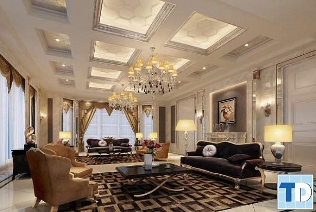 Phòng khách bề thế ấm cúng
