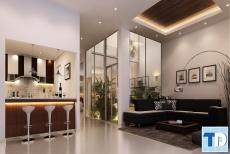 Tinh tế với phong cách thiết kế nội thất phòng khách chung cư đơn giản