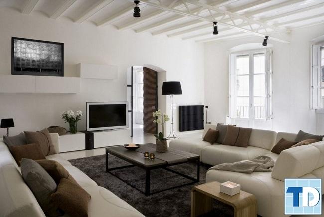 Mẫu phòng khách nhà chung cư đơn giản