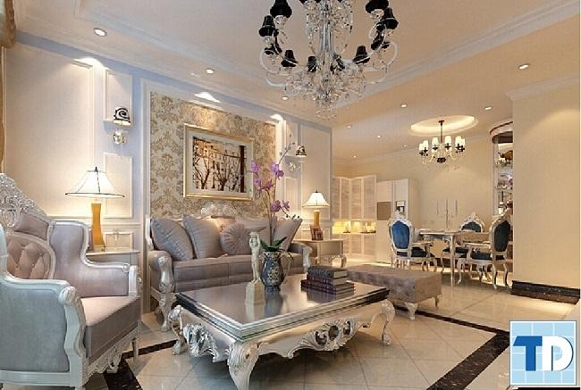 Nội thất cho chung cư cao cấp diện tích rộng 200 m2 trở lên