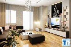 Vẻ đẹp hiện đại mẫu nội thất phòng khách chung cư đẹp đơn giản