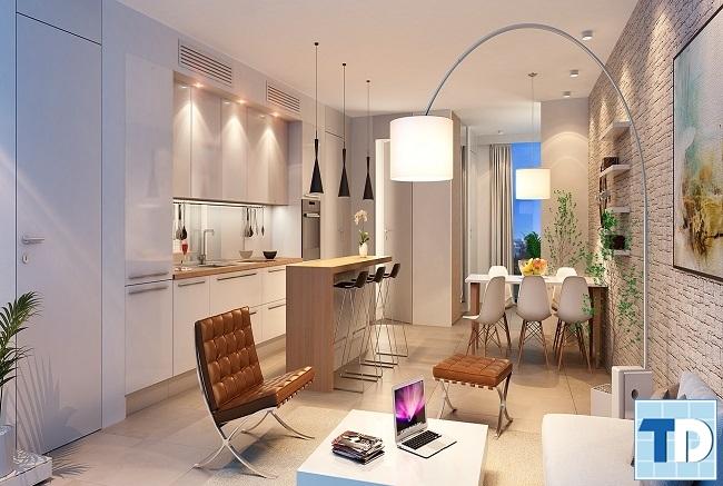 Nội thất phòng khách chung cư đơn giản tinh tế