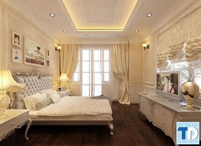 Giường ngủ tân cổ điển tinh tế