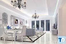 Ngắm thiết kế phòng khách chung cư tân cổ điển lộng lẫy quyền quý