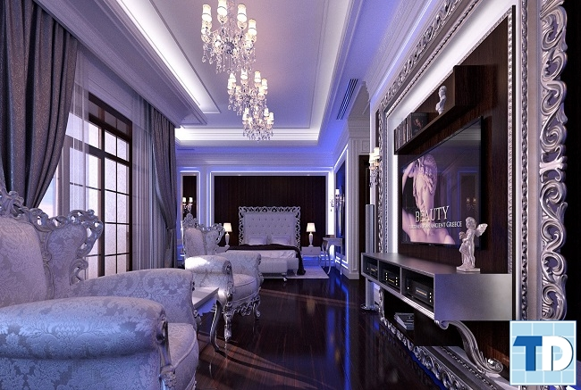 Nổi bật mẫu nội thất nhà 4 tầng tân cổ điển đơn giản mà sang trọng