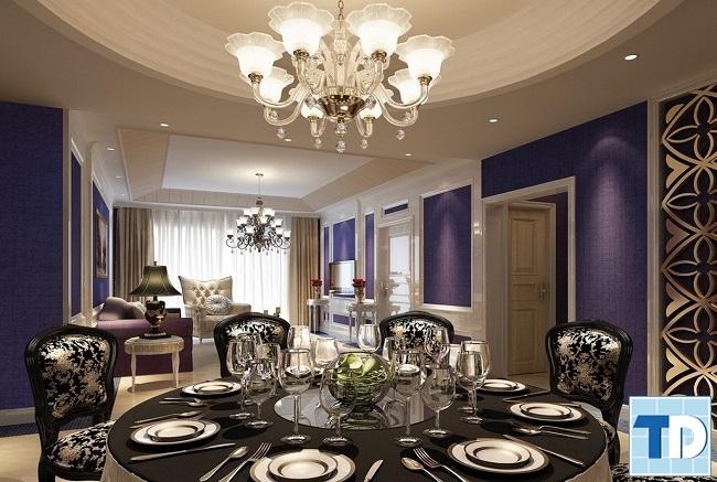 Phòng ăn hiện đại đậm chất cổ điển