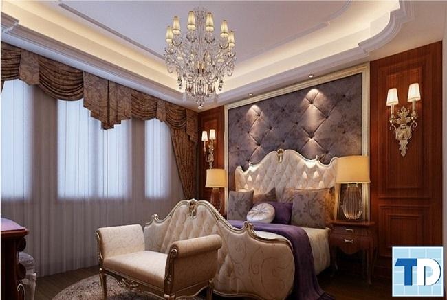Giường ngủ tân cổ điển gỗ công nghiệp giá rẻ bền đẹp cho mọi nhà