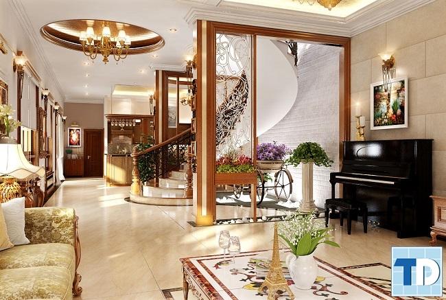 Tranh tân cổ điển sang trọng phù hợp với không gian nội thất cổ điển