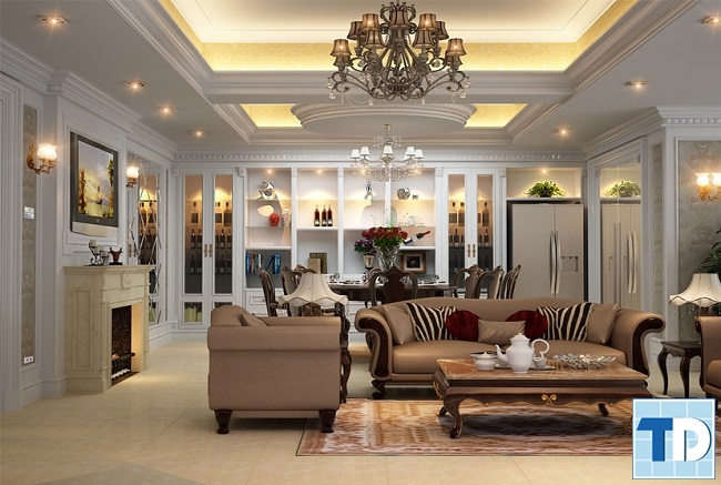 Mẫu tranh đẹp tô điểm thêm sự lôi cuốn cho không gian nhà