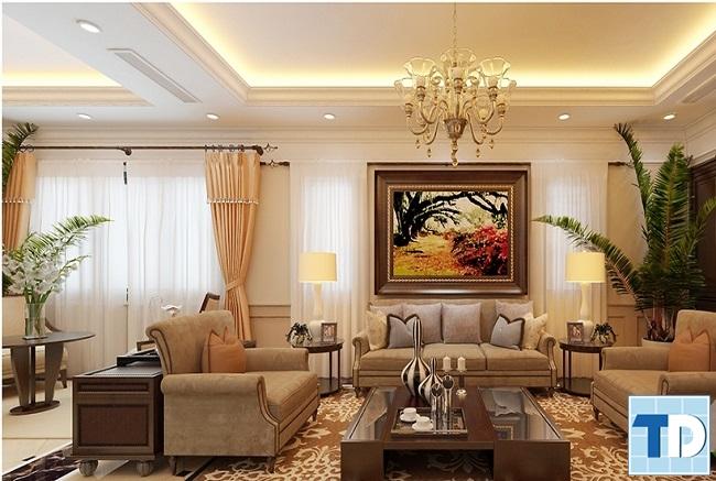 Tranh đẹp cho mẫu phòng khách sang trọng