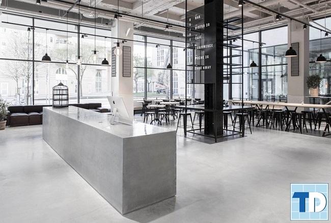 Nội thất nhà hàng hiện đại với thiết kế mở