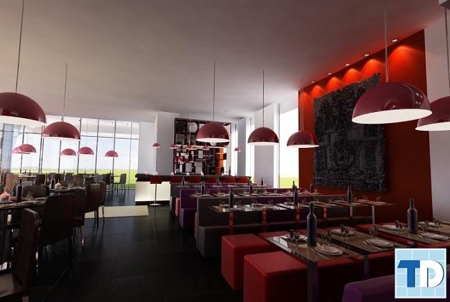 Không gian nhà hàng lãng mạn
