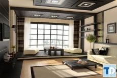 Không gian nhà nội thất chung cư theo phong cách nhật bản