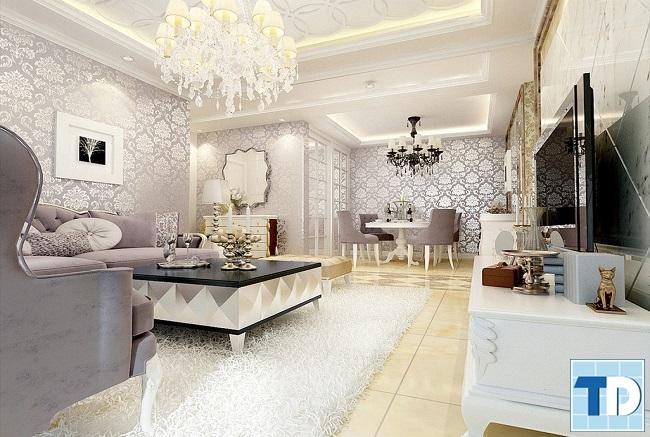 Thiết kế nội thất nhà 4 tầng tân cổ điển đẹp đơn giản mà tinh tế