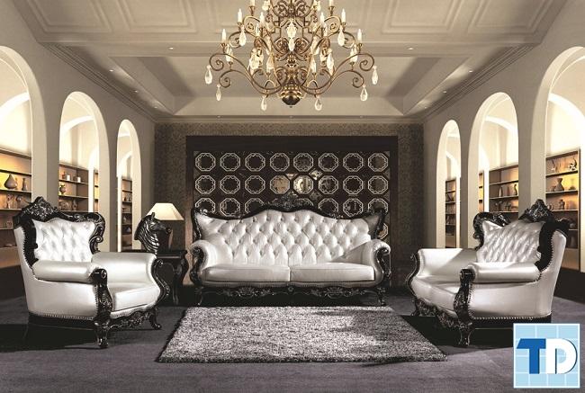 Sofa trắng cao cấp thời thượng