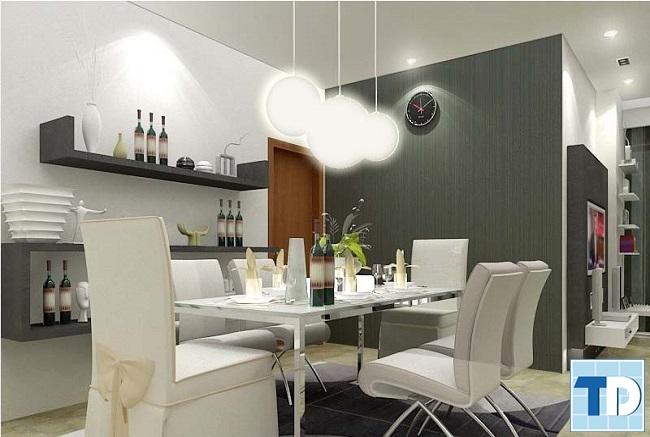 Không gian nội thất phòng ăn cao cấp