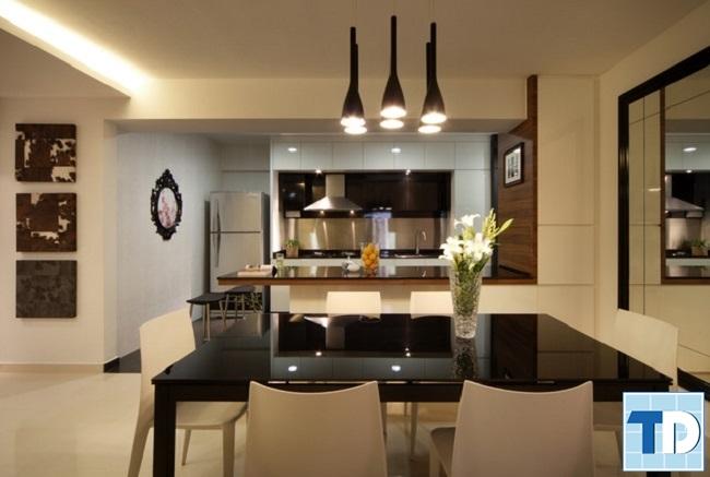 Mẫu phòng bếp đơn giản hiện đại