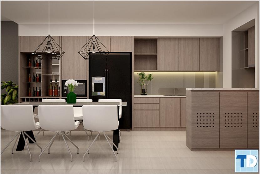 Mẫu phòng bếp đơn giản mà tinh tế