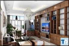 Căn hộ cao cấp Tràng An Complex nội thất gỗ óc chó thượng hạng