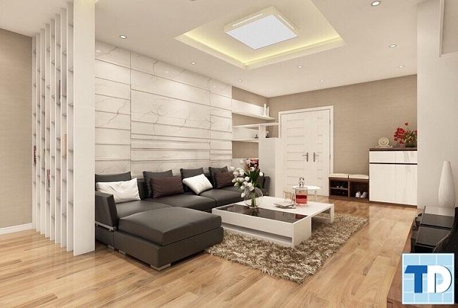 Sự kết hợp sofa đen trắng tinh tế