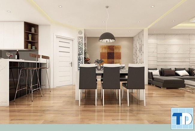 Phòng bếp và bàn ăn hiện đại