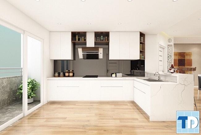 Khu bếp trang nhã tiện nghi với nội thất cao cấp