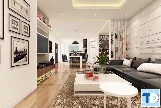 Tổng thể căn hộ chung cư hiện đại