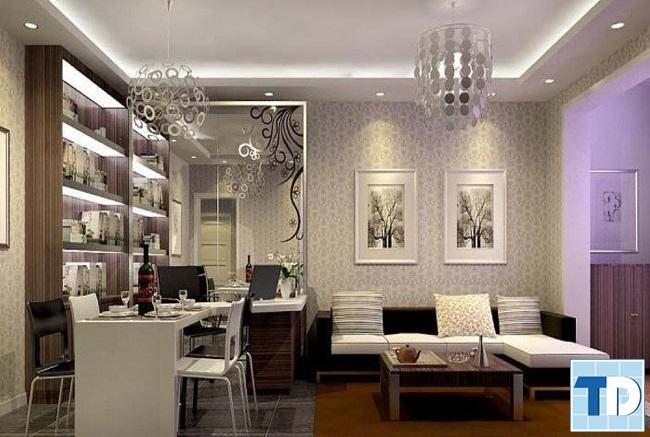 Phòng khách tân cổ điển đẹp cao cấp