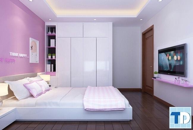 Phòng ngủ con gái xinh xắn