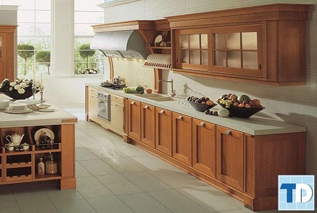 Phòng bếp nội thất gỗ mộc mạc mà tinh tế