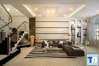 Mẫu thiết kế nội thất nhà phố đẹp tiện nghi nhờ cách bài trí thông minh