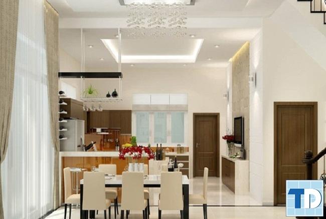 Phòng ăn và phòng bếp nhà phố