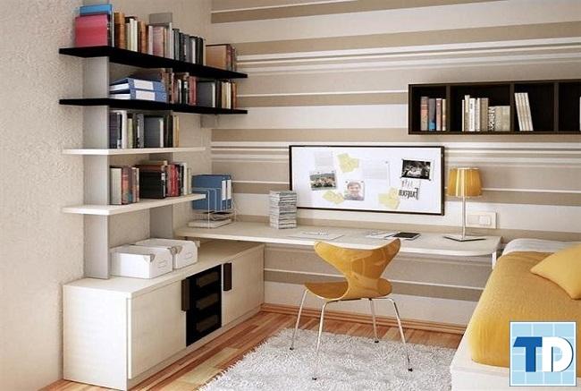 Phòng ngủ nhỏ hô biến giườngthành bàn