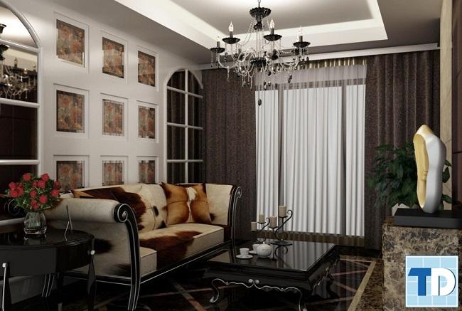 Phòng khách đẹp lịch lãm