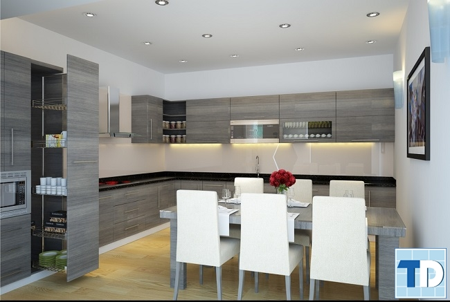Phòng bếp hiện đại tiện nghi