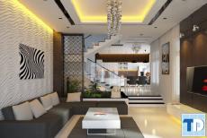 Mẫu nhà phố đẹp đơn giản với nội thất nhỏ gọn tiện nghi