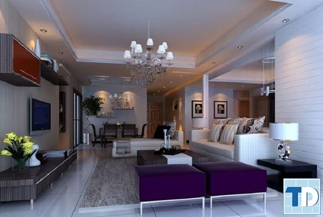 Phòng khách sang trọng với thiết kế cao cấp