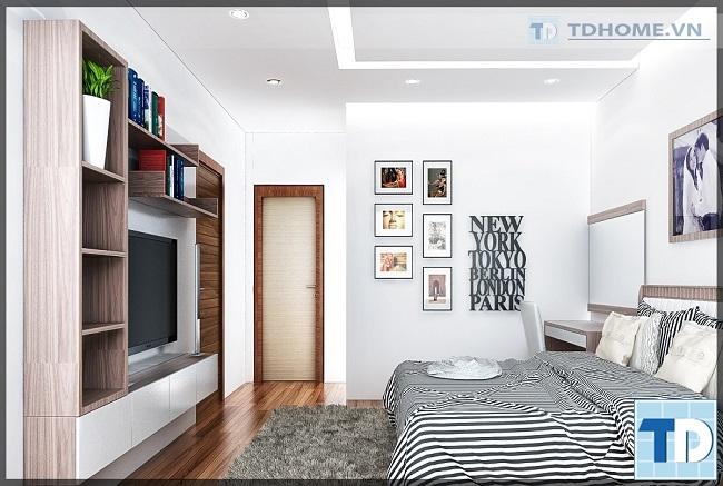 Không gian phòng ngủ thông thoáng hiện đại mà vẫn gần gũi