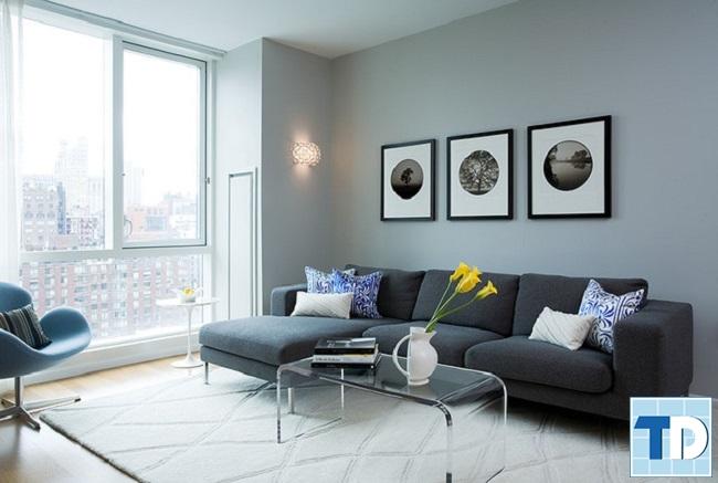 Bộ sofa là điểm nhấn phòng khách