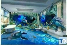 Khám phá thiết kế phòng tắm sàn 3D đầy mê hoặc