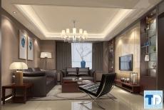 Trang trí mẫu nội thất phòng khách cao cấp tiện nghi hiện đại