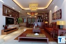 Các mẫu nội thất phòng khách bằng gỗ đẹp mộc mạc mà vô cùng đẳng cấp