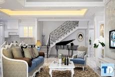 Không gian đẳng cấp xa hoa của mẫu thiết kế nội thất nhà phố lộng lẫy