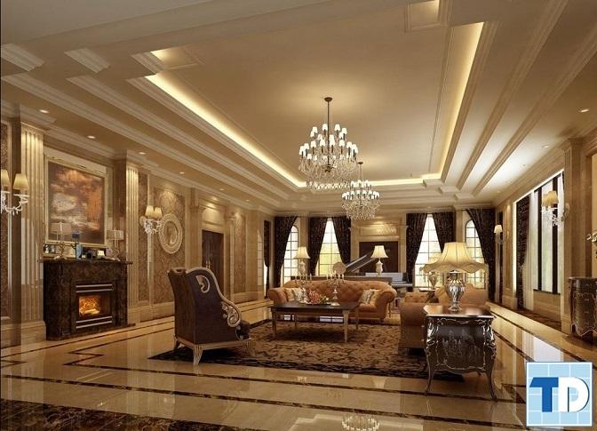 Sàn phòng khách phải thiết kế bằng phẳng