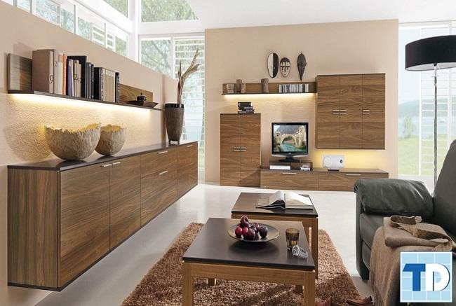 Nội thất phòng khách toàn bộ bằng gỗ đẹp