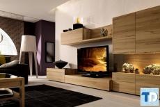 Căn hộ đẹp thiết kế phòng khách bằng gỗ đơn giản mà cao sang đẳng cấp
