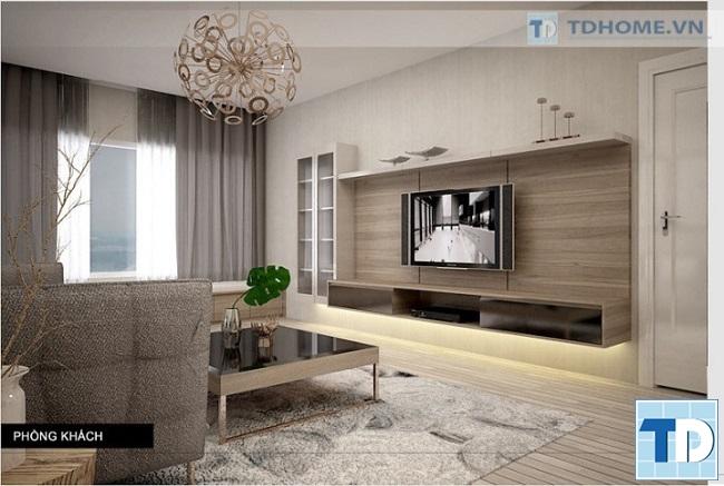 Kệ tivi được thiết kế hiện đại tiện dụng