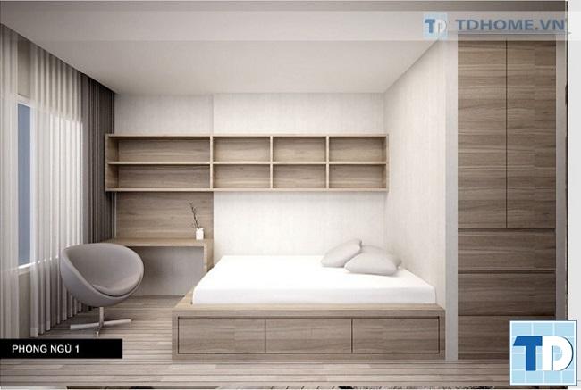 Phòng ngủ cậu con trai đơn giản mộc mạc
