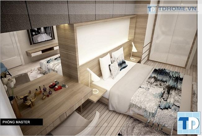 Không gian phòng ngủ master tinh tế